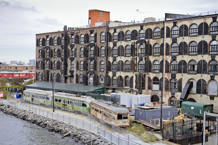 The Red Hook Stores from water